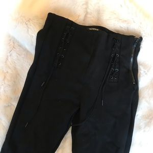Zara Black Legging Collection with Lace Ups
